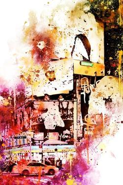 NYC Watercolor Collection - Fashion Times Square by Philippe Hugonnard