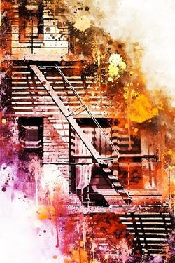 NYC Watercolor Collection - Fire Escape by Philippe Hugonnard