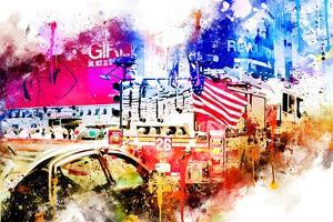 NYC Watercolor Collection - Fire Truck by Philippe Hugonnard