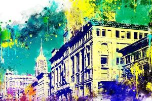 NYC Watercolor Collection - Green Sky by Philippe Hugonnard