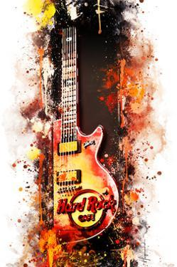 NYC Watercolor Collection - Hard Rock Cafe by Philippe Hugonnard