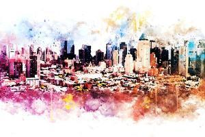 NYC Watercolor Collection - Hell's Kitchen by Philippe Hugonnard