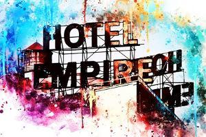 NYC Watercolor Collection - Hote Empire by Philippe Hugonnard