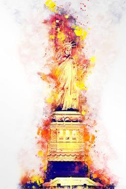 NYC Watercolor Collection - Lady Liberty by Philippe Hugonnard