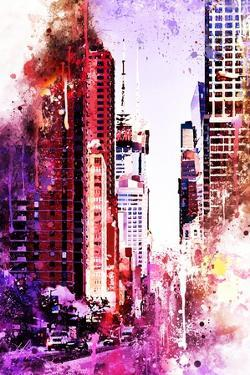 NYC Watercolor Collection - Life is Pink by Philippe Hugonnard