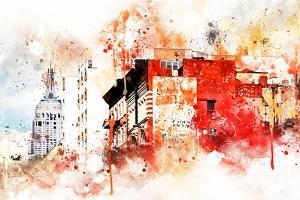 NYC Watercolor Collection - Manhattan Architecture by Philippe Hugonnard