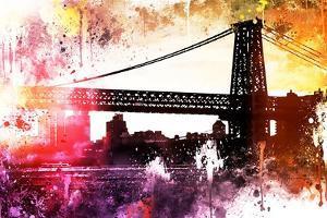 NYC Watercolor Collection - Manhattan Bridge Shadows by Philippe Hugonnard
