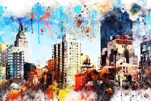 NYC Watercolor Collection - Manhattan Buildings by Philippe Hugonnard