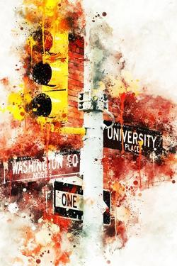 NYC Watercolor Collection - Manhattan Signs by Philippe Hugonnard
