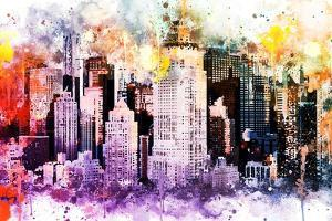 NYC Watercolor Collection - Midtown by Philippe Hugonnard