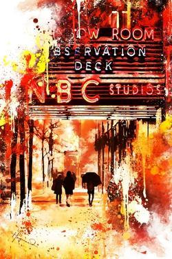 NYC Watercolor Collection - NBC Studios II by Philippe Hugonnard