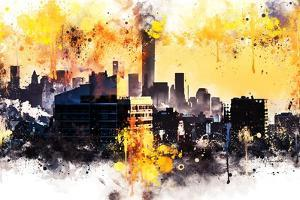 NYC Watercolor Collection - New York Colors Sunset by Philippe Hugonnard