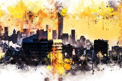 NYC Watercolor Collection - New York Colors Sunset