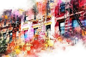 NYC Watercolor Collection - New York Facades by Philippe Hugonnard