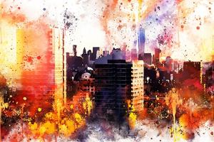 NYC Watercolor Collection - New York Sunset by Philippe Hugonnard