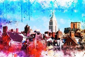 NYC Watercolor Collection - On the Roofs by Philippe Hugonnard