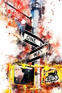 NYC Watercolor Collection - One Way by Philippe Hugonnard