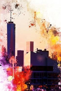 NYC Watercolor Collection - One World Trade center by Philippe Hugonnard