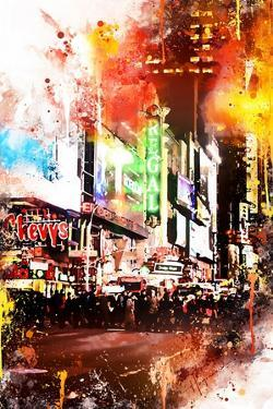 NYC Watercolor Collection - Pedestrian Pathway by Philippe Hugonnard