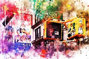 NYC Watercolor Collection - Pedestrian Signal by Philippe Hugonnard