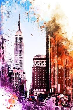 NYC Watercolor Collection - Pink Empire by Philippe Hugonnard