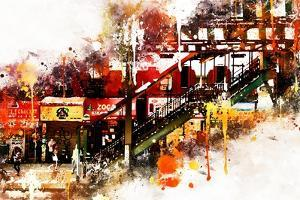 NYC Watercolor Collection - Subway Brooklyn by Philippe Hugonnard