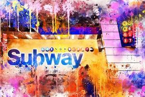 NYC Watercolor Collection - Subway Station by Philippe Hugonnard