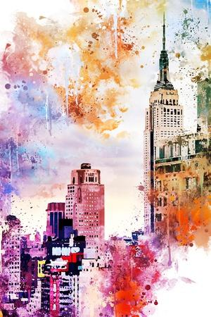 NYC Watercolor Collection - The Empire State Building