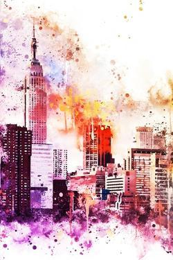 NYC Watercolor Collection - The Empire by Philippe Hugonnard