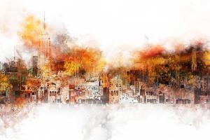 NYC Watercolor Collection - The Skyline by Philippe Hugonnard
