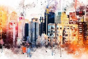 NYC Watercolor Collection - The Skyscrapers by Philippe Hugonnard