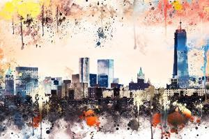 NYC Watercolor Collection - The View by Philippe Hugonnard
