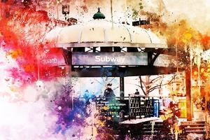 NYC Watercolor Collection - Union Square Station by Philippe Hugonnard