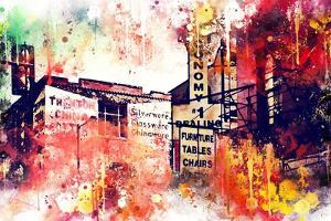 NYC Watercolor Collection - Urban Signs by Philippe Hugonnard