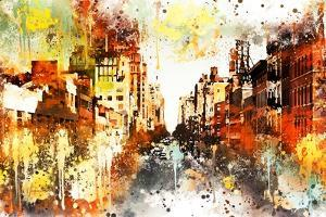 NYC Watercolor Collection - Urban Street by Philippe Hugonnard