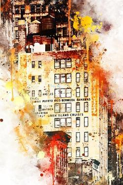 NYC Watercolor Collection - US Building by Philippe Hugonnard