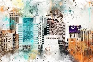 NYC Watercolor Collection - W Sign by Philippe Hugonnard