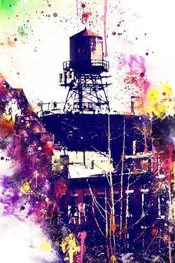 NYC Watercolor Collection - Watertank by Philippe Hugonnard