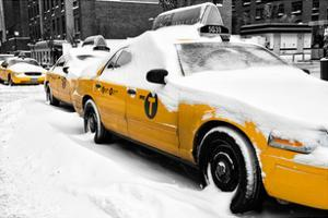 NYC Yellow Cab in the Snow by Philippe Hugonnard