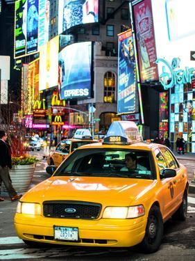 NYC Yellow Taxis / Cabs in Times Square by Night - Manhattan - New York City - United States by Philippe Hugonnard