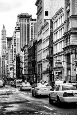 NYC Yellow Taxis / Cabs on Broadway Avenue in Manhattan - New York City - United States by Philippe Hugonnard