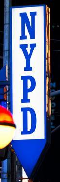 Nypd Police Dept Sign, Times Square, Manhattan, New York City, USA by Philippe Hugonnard