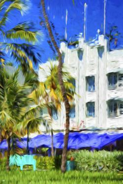 Ocean Drive Building I - In the Style of Oil Painting by Philippe Hugonnard