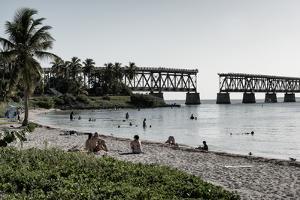 Old Bahia Honda Bridge Florida Keys - Bridges Roads by Philippe Hugonnard