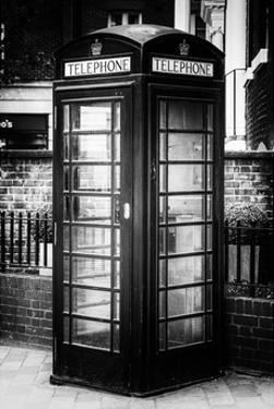 Old Black Telephone Booth on a Street in London - City of London - UK - England - United Kingdom by Philippe Hugonnard