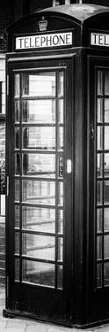 Old Black Telephone Booth on a Street in London - City of London - UK - Photography Door Poster by Philippe Hugonnard