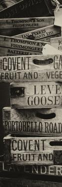 Old Wooden Crates used on Markets in London - Portobello Road Market - Notting Hill - Door Poster by Philippe Hugonnard