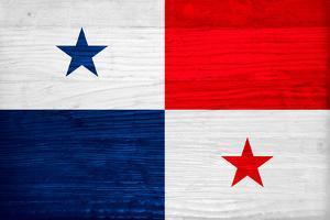 Panama Flag Design with Wood Patterning - Flags of the World Series by Philippe Hugonnard