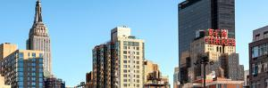 Panoramic Cityscape with the Empire State Building and the New Yorker Hotel by Philippe Hugonnard