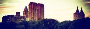 Panoramic Landscape, Central Park at Sunset, Manhattan, New York, Vintage Colors by Philippe Hugonnard